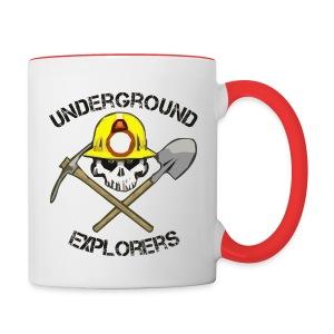 Underground Explorers Coffee Mug (white/red) - Contrast Coffee Mug
