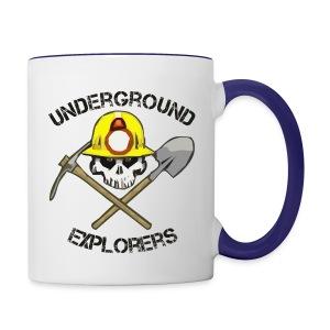 Underground Explorers Coffee Mug (white/blue) - Contrast Coffee Mug