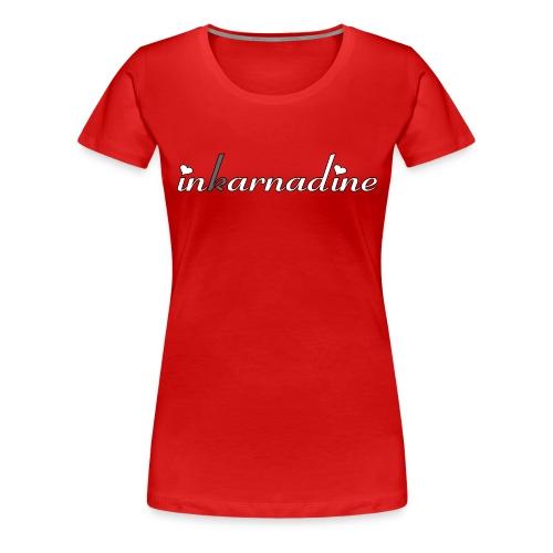 redfemaleshirtgirlscript - Women's Premium T-Shirt