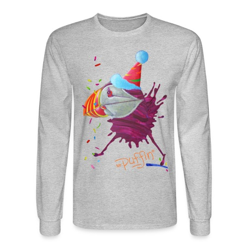 MR. PUFFIN - front print - s/xxl - multi colors - Men's Long Sleeve T-Shirt