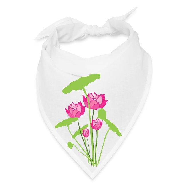 Pink water lily Bandana | Bandana