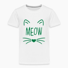 MEOW CAT FACE Baby & Toddler Shirts