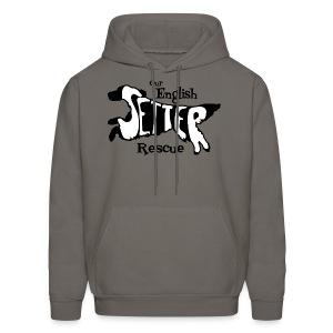 Men's single-sided Black/white setter design on front - Men's Hoodie