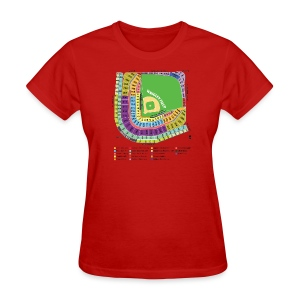 Wrigley Field Seating Chart - Women's T-Shirt