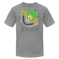 T-Shirts ~ Men's T-Shirt by American Apparel ~ Wrigley Field Seating Chart