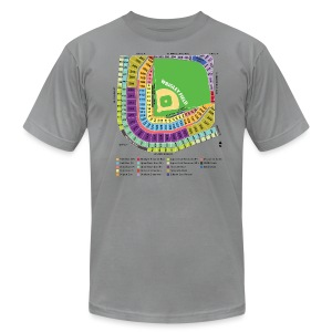 Wrigley Field Seating Chart - Men's Fine Jersey T-Shirt