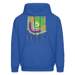 Wrigley Field Seating Chart - Men's Hoodie