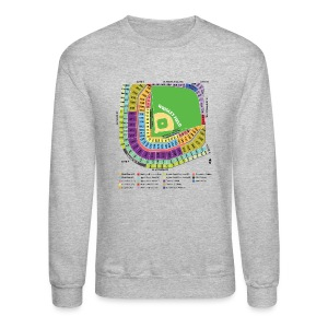 Wrigley Field Seating Chart - Crewneck Sweatshirt