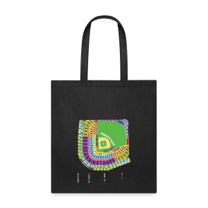 Wrigley Field Seating Chart - Tote Bag