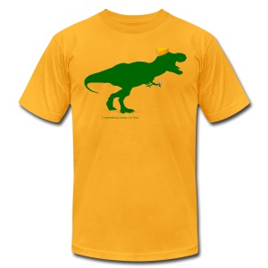 Cheeseheadosaurus Rex - Men's T-Shirt by American Apparel