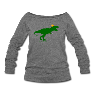 Long Sleeve Shirts ~ Women's Wideneck Sweatshirt ~ Cheeseheadosaurus Rex