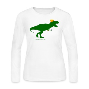 Cheeseheadosaurus Rex - Women's Long Sleeve Jersey T-Shirt