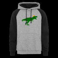 Hoodies ~ Colorblock Hoodie ~ Cheeseheadosaurus Rex