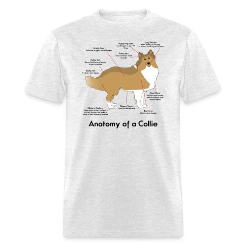 Anatomy of a Collie - Mens T-shirt - Men's T-Shirt