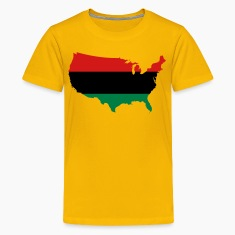 African American _ Red, Black & Green Colors Kids' Shirts