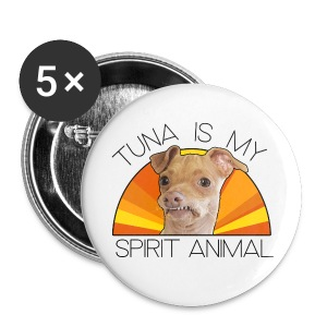 Tuna is my Spirit Animal Coasters (orange) - Large Buttons