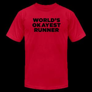 World's Okayest Runner - Men's Fine Jersey T-Shirt