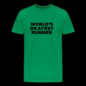World's Okayest Runner - Men's Premium T-Shirt