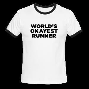 World's Okayest Runner - Men's Ringer T-Shirt