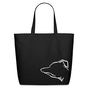 Tuna Profile Tote (black) - Eco-Friendly Cotton Tote