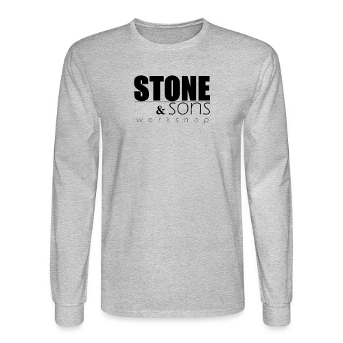 Stone & Sons Men's long sleeve T-shirt (black logo) - Men's Long Sleeve T-Shirt