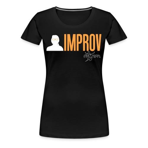 Female Logo - Yellow - Women's Premium T-Shirt