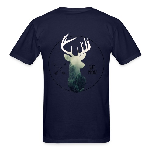 Forest Stag - Navy - Men's T-Shirt
