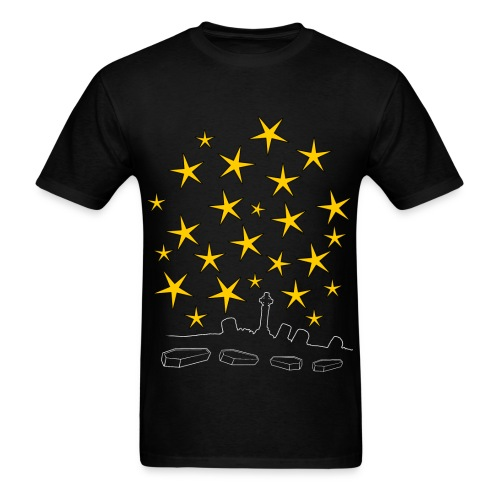 Coffins And Stars - Men's T-Shirt