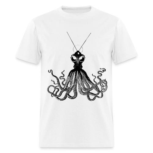 Steampunk Octopus White - Men's T-Shirt