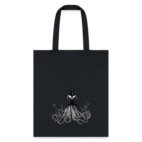 Steampunk Octopus Black - Tote Bag