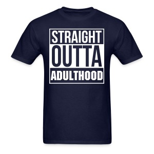 Straight Outta Adulthood Tee - Navy - Men's T-Shirt