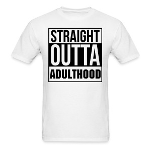 Straight Outta Adulthood Muscle Tee - Heather Gray - Men's T-Shirt