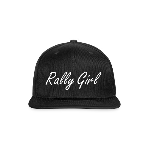 B&W Rally Girl  - Snap-back Baseball Cap