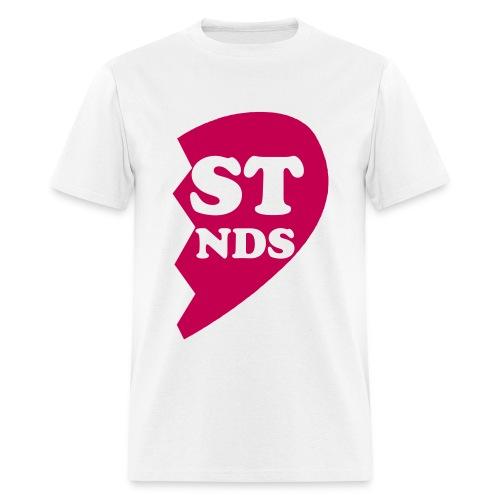 Adult Best Friends half heart T-shirt  - Men's T-Shirt