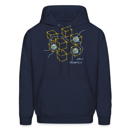 CM-1 men's hoodie navy gold/blue - Men's Hoodie