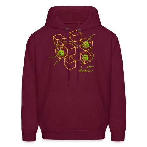 CM-1 men's hoodie wine gold/apple - Men's Hoodie