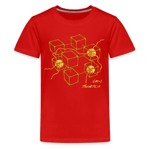 CM-1 kid's red green/yellow - Kids' Premium T-Shirt