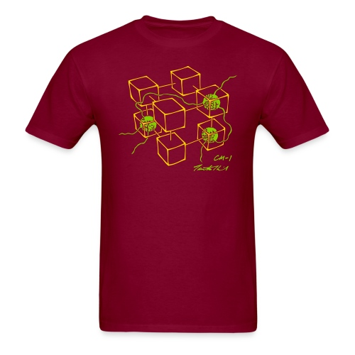 CM-1 men's wine gold/apple - Men's T-Shirt
