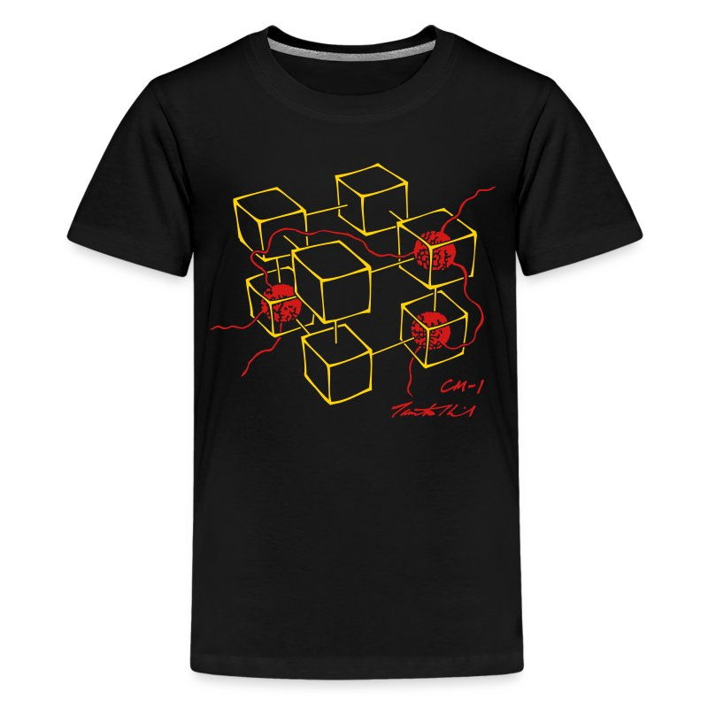CM-1 kid's black gold/red - Kids' Premium T-Shirt