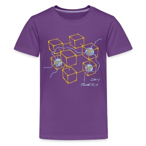 CM-1 kid's purple gold/blue - Kids' Premium T-Shirt