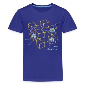 CM-1 kid's blue gold/light-blue - Kids' Premium T-Shirt