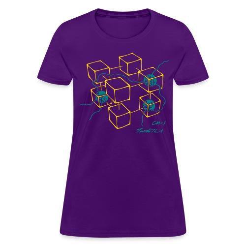 CM-1 women's flex purple gold/teal - Women's T-Shirt