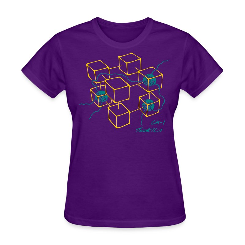 CM-1 women's flex purple gold/teal - Women's T-Shirt