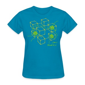 CM-1 women's flex turquoise gold/apple - Women's T-Shirt