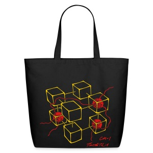 CM-1 Logo tote black/red - Eco-Friendly Cotton Tote