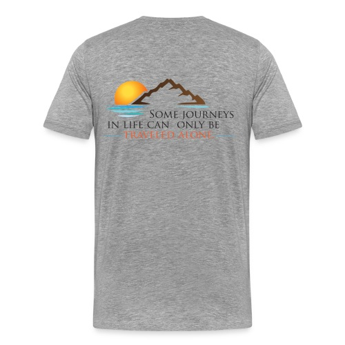Viral Life Quote: Quotes Ken Poirot T-shirt Back - Men's Premium T-Shirt
