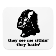 Other ~ Mouse pad Horizontal ~ Darth Vader They See Me Sithin' - Mouse Pad - Horizontal
