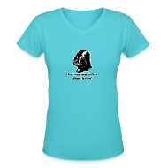 Women's T-Shirts ~ Women's V-Neck T-Shirt ~ Darth Vader Sithin' - Women's V-Neck T-Shirt