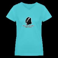 Women's T-Shirts ~ Women's V-Neck T-Shirt ~ Darth Vader Sithin' - Women's V-Neck T-Shirt