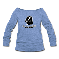 Long Sleeve Shirts ~ Women's Wideneck Sweatshirt ~ Darth Vader Sithin' - Women's Wideneck Sweatshirt by Bella